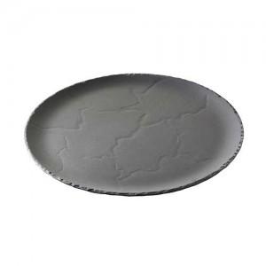 Assiette ronde round flat plate Basalt Revol