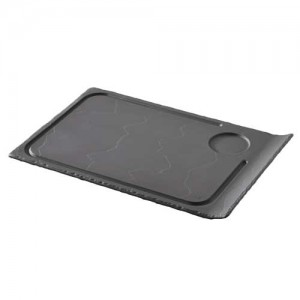 assiette rectangulaire avec une anse et insertion Basalt 643532 Basalt