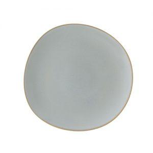 assiette plate 28cm karma gris
